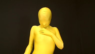TRANSPARENT YELLOW ZENTAI CUTE GIRL