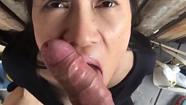 Japanese wife loves white cock