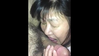 Japanese Mature Wife Gives Blowjob To Stranger