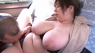 Big Breasts Woman in my Taxi