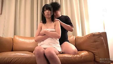 Japanese schoolgirl masturbates with a big dildo.4182