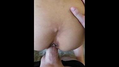 Japanese wife cumming all over my dick