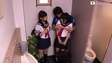Two Japanese Schoolgirls picked up