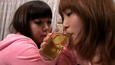 2 Cute Asian Girls Piss Exchange and Golden shower