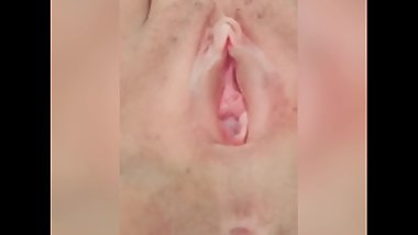 Pussy Closeup in Shower