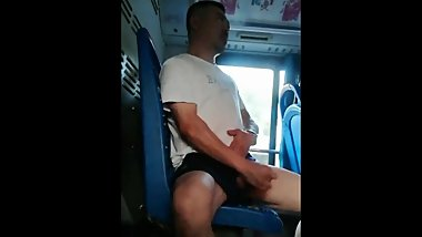 Chinese man jerking off on the bus